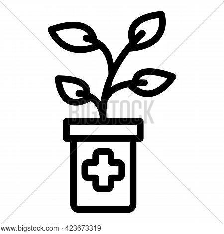 Antidepressant Medical Plant Icon. Outline Antidepressant Medical Plant Vector Icon For Web Design I