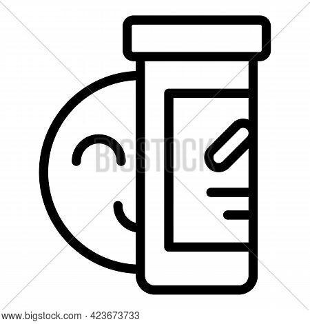 Antidepressant Drug Icon. Outline Antidepressant Drug Vector Icon For Web Design Isolated On White B