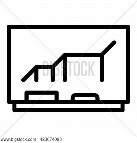 Smart Office Conference Icon. Outline Smart Office Conference Vector Icon For Web Design Isolated On