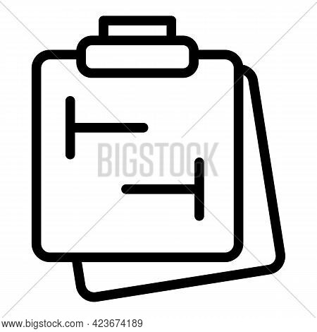 Smart Office Clipboard Icon. Outline Smart Office Clipboard Vector Icon For Web Design Isolated On W