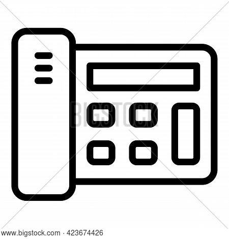 Smart Office Telephone Icon. Outline Smart Office Telephone Vector Icon For Web Design Isolated On W