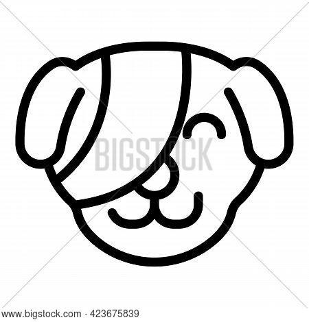 Dog Eye Operation Icon. Outline Dog Eye Operation Vector Icon For Web Design Isolated On White Backg