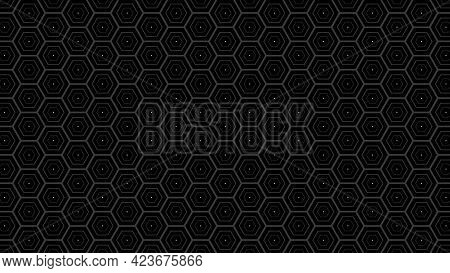 Dark Hexagon Stroke Shapes Wallpaper. Hexagon Abstract Background. Vector Illustration