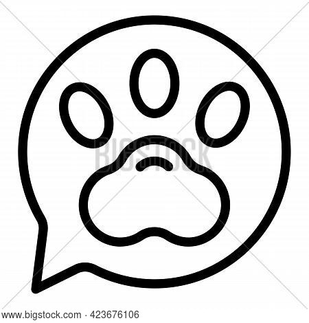 Veterinary Clinic Message Icon. Outline Veterinary Clinic Message Vector Icon For Web Design Isolate