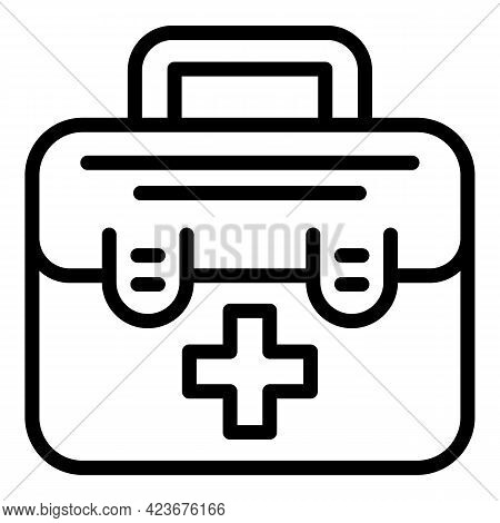 Veterinary Clinic First Aid Icon. Outline Veterinary Clinic First Aid Vector Icon For Web Design Iso