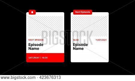 Template For New Episode On Video Platform. Put Your Content Under Background. Vector Illustration