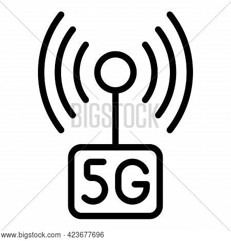 5g Network Icon. Outline 5g Network Vector Icon For Web Design Isolated On White Background