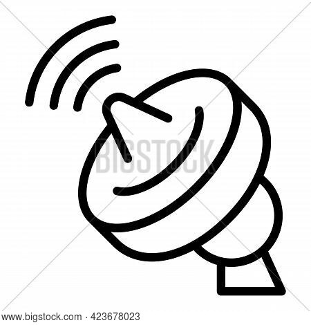 Antenna Internet Icon. Outline Antenna Internet Vector Icon For Web Design Isolated On White Backgro