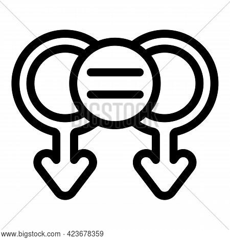 Gender Identity Sex Icon. Outline Gender Identity Sex Vector Icon For Web Design Isolated On White B