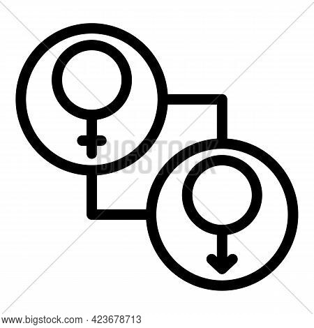 Gender Identity Rights Icon. Outline Gender Identity Rights Vector Icon For Web Design Isolated On W
