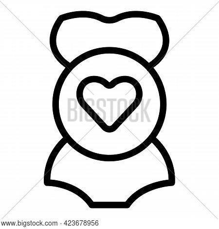 Maternity Icon. Outline Maternity Vector Icon For Web Design Isolated On White Background