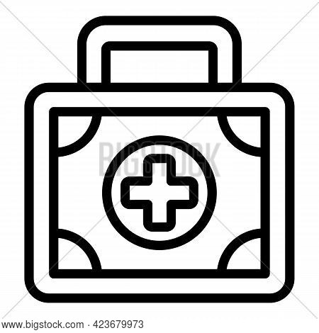 First Aid Kit Icon. Outline First Aid Kit Vector Icon For Web Design Isolated On White Background