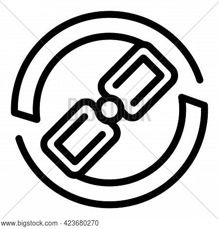 Link Search Engine Icon. Outline Link Search Engine Vector Icon For Web Design Isolated On White Bac