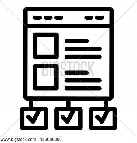 Optimization Search Engine Icon. Outline Optimization Search Engine Vector Icon For Web Design Isola