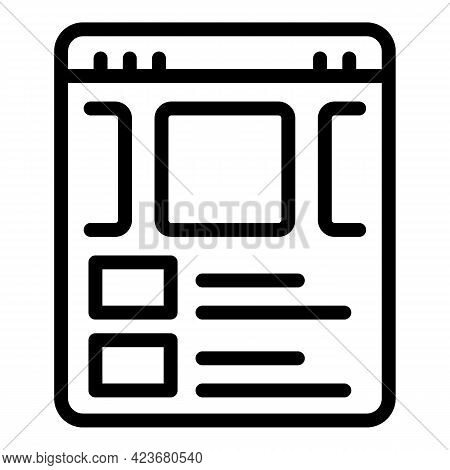 Internet Search Engine Icon. Outline Internet Search Engine Vector Icon For Web Design Isolated On W