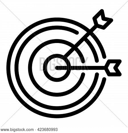 Target Search Engine Icon. Outline Target Search Engine Vector Icon For Web Design Isolated On White