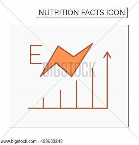 Energy Content Color Icon. Energy Value. High Level Energy. Nutrition Facts. Nutrition Supplements.