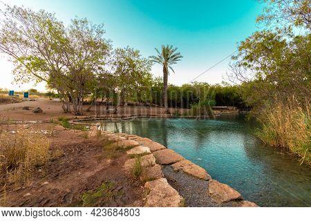 Large Pool Of Clean Water In Beit Shean - Israel
