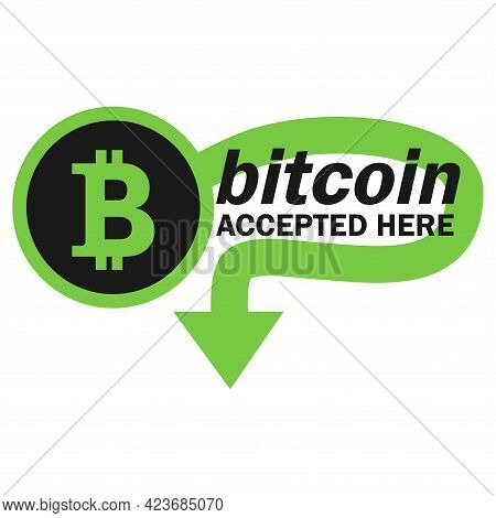 Bitcoin Payment Concept. Mobile Cryptocurrency. Bitcoin Transaction Or Donation. Cryptocurrency Acce