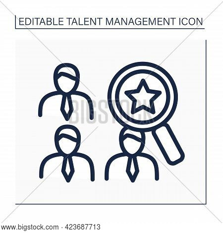 Talent Marketplace Line Icon. Provides Human Resources Management Services To Provide Comprehensive