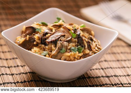 Wild Mushroom Risotto With Parmesan And Parsley