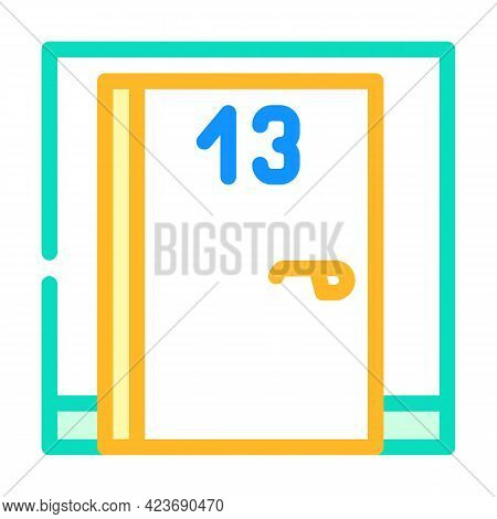 Numbers Fear Color Icon Vector. Numbers Fear Sign. Isolated Symbol Illustration