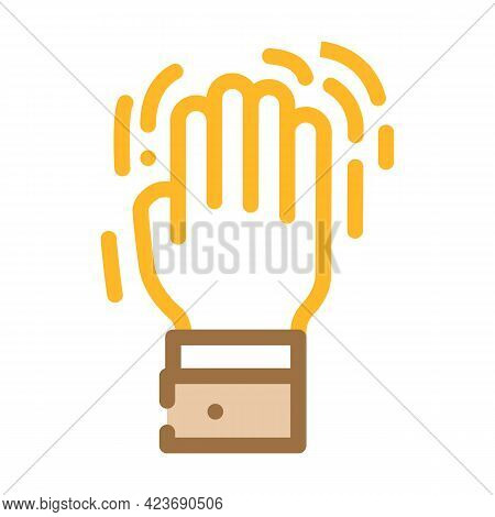 Shaking Hand Fear Color Icon Vector. Shaking Hand Fear Sign. Isolated Symbol Illustration