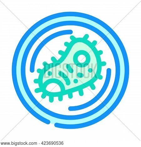 Bacteria Virus Fear Color Icon Vector. Bacteria Virus Fear Sign. Isolated Symbol Illustration