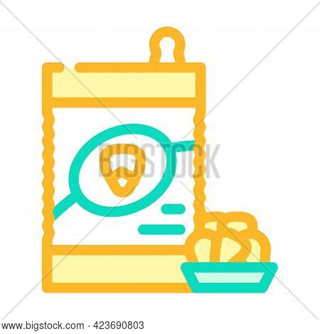 Corn Maize Gluten Free Color Icon Vector. Corn Maize Gluten Free Sign. Isolated Symbol Illustration