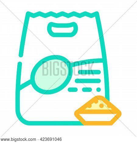 Quinoa Porridge Gluten Free Color Icon Vector. Quinoa Porridge Gluten Free Sign. Isolated Symbol Ill