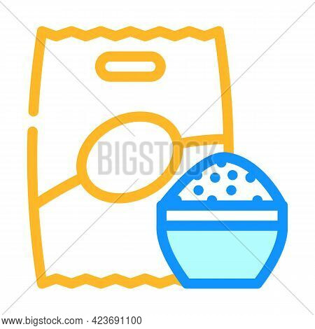 Rice Food Gluten Free Color Icon Vector. Rice Food Gluten Free Sign. Isolated Symbol Illustration