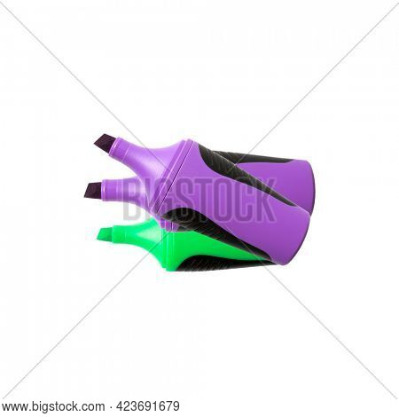 Colorful highlighter isolated on white