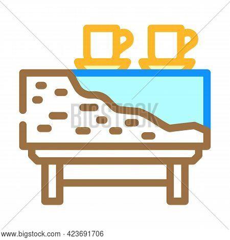 Design Wooden Handmade Table Color Icon Vector. Design Wooden Handmade Table Sign. Isolated Symbol I
