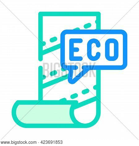 Eco Material For Renovation Color Icon Vector. Eco Material For Renovation Sign. Isolated Symbol Ill