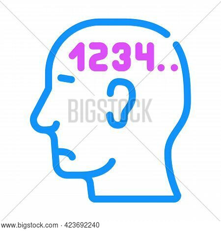 Counting Neurosis Color Icon Vector. Counting Neurosis Sign. Isolated Symbol Illustration