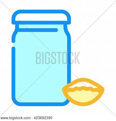 Mini Conchiglie Rigate Pasta Color Icon Vector. Mini Conchiglie Rigate Pasta Sign. Isolated Symbol I