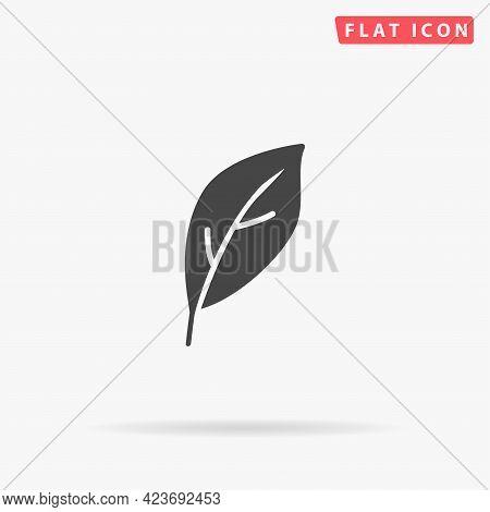 Leaf Flat Vector Icon. Hand Drawn Style Design Illustrations.