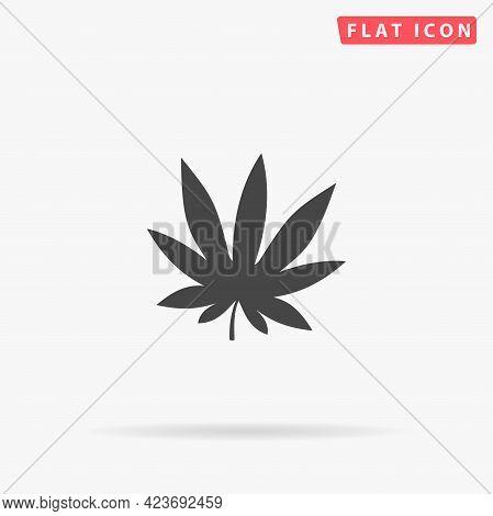 Marijuana Cannabis Flat Vector Icon. Hand Drawn Style Design Illustrations.