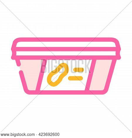 Paste Peanut Package Color Icon Vector. Paste Peanut Package Sign. Isolated Symbol Illustration