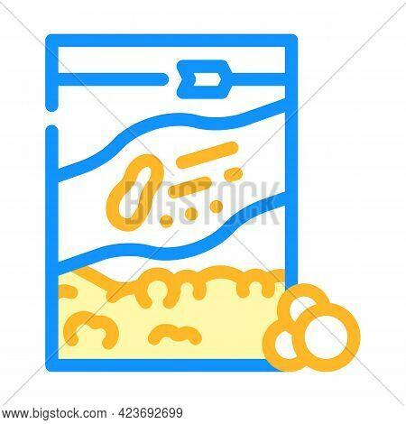 Balls Peanut Butter Color Icon Vector. Balls Peanut Butter Sign. Isolated Symbol Illustration