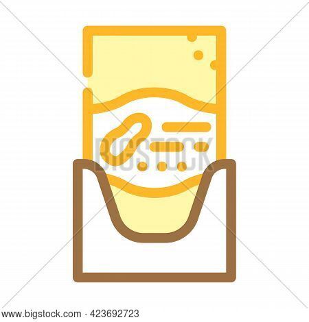 Sachet Bag With Peanut Butter Color Icon Vector. Sachet Bag With Peanut Butter Sign. Isolated Symbol