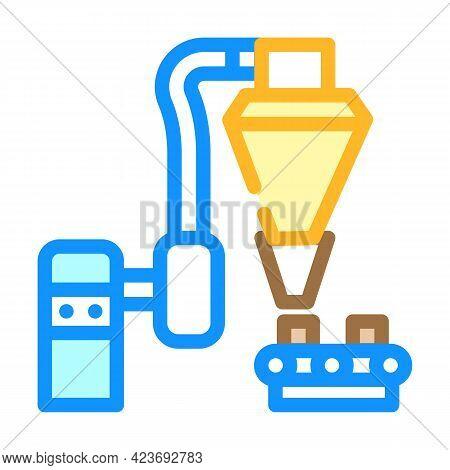 Production Peat Briquettes Color Icon Vector. Production Peat Briquettes Sign. Isolated Symbol Illus