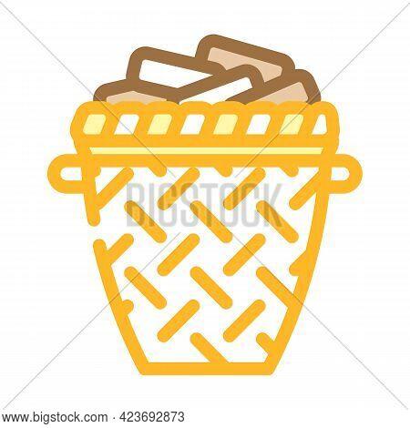 Torus Basket Color Icon Vector. Torus Basket Sign. Isolated Symbol Illustration