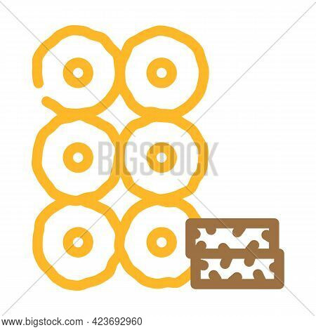 Tablets Peat Color Icon Vector. Tablets Peat Sign. Isolated Symbol Illustration
