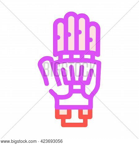Prosthesis Plastic Color Icon Vector. Prosthesis Plastic Sign. Isolated Symbol Illustration