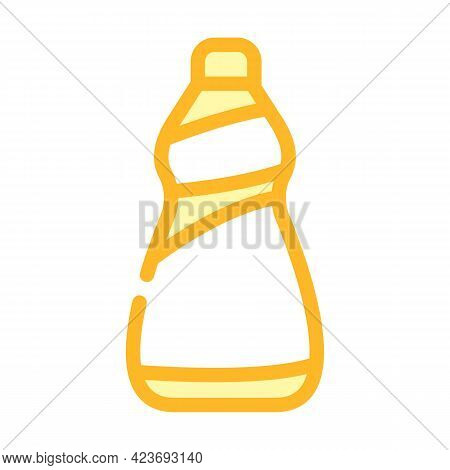 Container For Detergents From Plastic Material Color Icon Vector. Container For Detergents From Plas