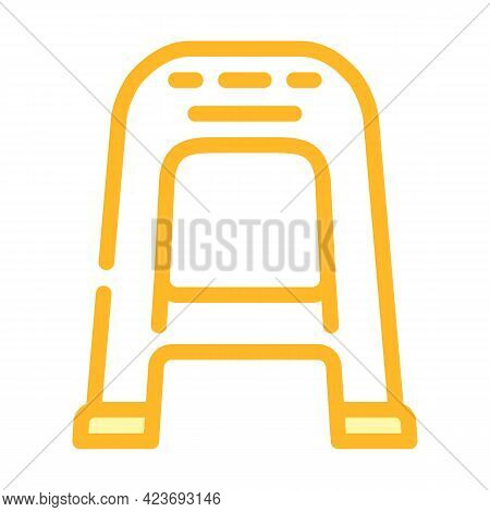 Chair Plastic Color Icon Vector. Chair Plastic Sign. Isolated Symbol Illustration