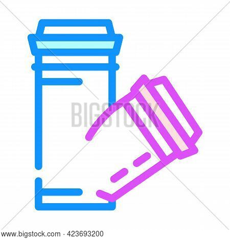 Polypropylene Plastic Pipes Color Icon Vector. Polypropylene Plastic Pipes Sign. Isolated Symbol Ill