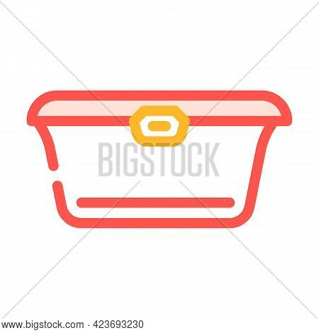 Food Packaging Plastic Container Color Icon Vector. Food Packaging Plastic Container Sign. Isolated