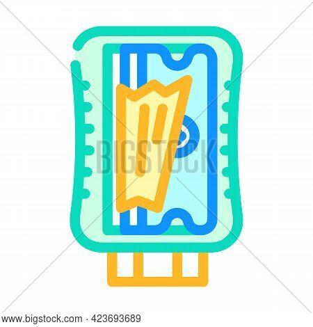 Pencil Sharpener Stationery Color Icon Vector. Pencil Sharpener Stationery Sign. Isolated Symbol Ill